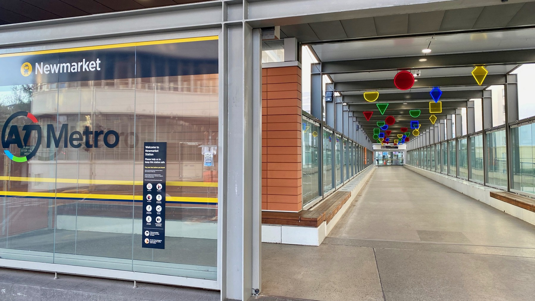 Auckland's Newmarket metro station was completely empty